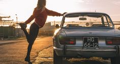 A morning stretch with Andra and an alluring Alfa Romeo GTV   Classic Driver Magazine