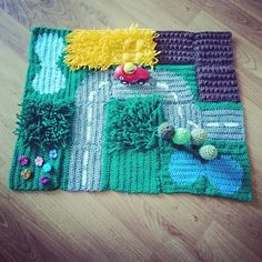 It's been nearly a year since I launched my Crochet Road Play Mat CAL (crochet-a-long) and since then I have been amazed by some of . Picnic Blanket, Outdoor Blanket, Crochet Toys, Arts And Crafts, Play Mats, Product Launch, Kids Rugs, Berry, Happy