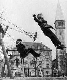 Il n'y a pas de création sans ça. - Romain Gary Childhood Memories: the ultimate test of nerve; for just a moment, you felt you were flying, and the trick was to land so you didn't scrape yourself