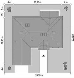 a full screen view of Bungalows, Modern House Design, House Plans, Villa, Floor Plans, How To Plan, Gallery, Park, Home Decor