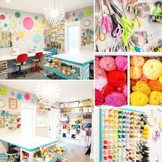 When you try to cram every single craft supply ever into one room  --- yes! my craft room tour is FINALLY up! #ontheblog #SugarBeeCrafts ---you can see more pics here on IG via @anchor_and_spire_photography lifestyle photographer extraordinaire  #colorfulcraftroom