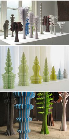 Beautiful paper cuts up-cycled from used cardboard.Ferry_staverman