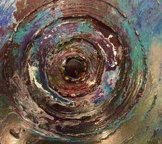 Schilderij made by Els van der Lugt Oktober 2014 Thema : als een steen in het water. Oorzaak en gevolg.