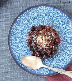 Raw blueberry crumble recipe