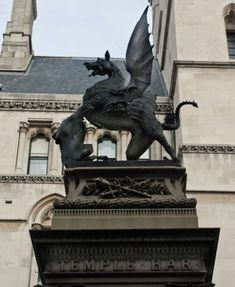 The Temple Bar Dragon. This dragon is a different breed to the other dragons. This looks fiercer