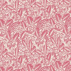 Etching Grande (Geranium) - Floral Fabric - The Textile District design to custom print for home decor, upholstery, and apparel. Pick the ground fabric you need and custom print the designs you want to create the perfect fabric for your next project. https://thetextiledistrict.com #designwithcolor #fabrics #interiordesign #sewing