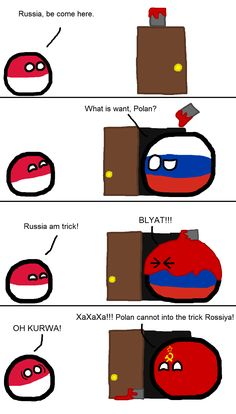 Poland tries to trick Russia | Polandballs Countryballs