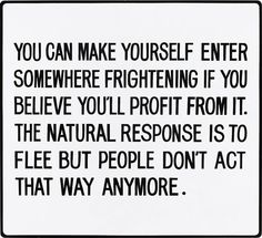 "JENNY HOLZER Living Series: You can make yourself enter somewhere…, 1981 enamel on metal 21 x 23 in. (53.3 x 58.4 cm) Signed ""Jenny Holzer"" on a label affixed to the reverse. This work is number 4 from an edition of 5."