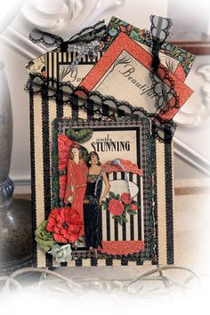Graphic 45 Couture Pocket Journal With Tags And Journal Cards