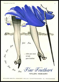 Vintage Reproduction Nylon Stockings Advertisement re-print Various Sizes Retro Advertising, Vintage Advertisements, Vintage Ads, Vintage Posters, Vintage Photos, Vintage Models, Vintage Stockings, Silk Stockings, Lingerie Vintage