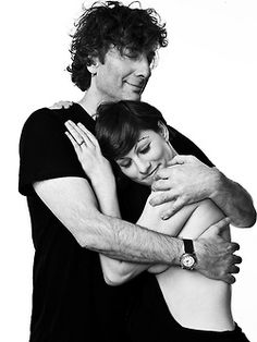 Neil Gaiman and Amanda Palmer by Allan Amato