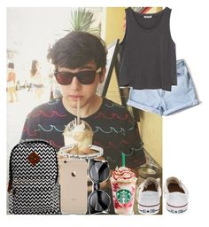 """""""Summer day in Miami with JC Caylen"""" by diirectiioner69 ❤ liked on Polyvore featuring Disney, Converse and Zara"""