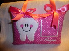 Happy Tooth TOOTH FAIRY PILLOW personalized just for by TAT1967, $14.99