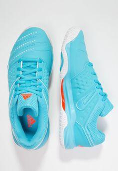 huge selection of 03638 b7fee ¡Cómpralo ya!. adidas Performance COURT STABIL 12 Zapatillas de balonmano bright  cyan white solar orange. , deportivas, sport, deporte, deportivo, fitness,  ...