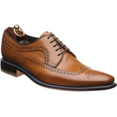 Loake Callaghan is a Derby brogue with the addition of a coloured welt and a lightly textured grain finish over the vamp.