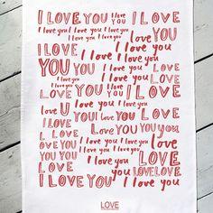 Geschirrtuch Love Is The Best