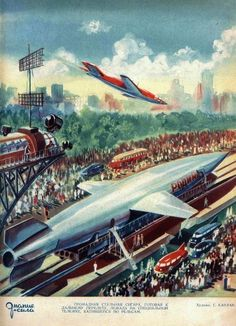 Soviet Retrofuturism http://io9.com/how-soviet-artists-imagined-communist-life-in-space-1558140402 https://www.pinterest.com/kvanberg/soviet-retro-futurism/