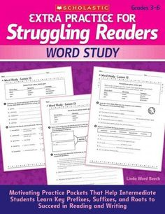 Extra Practice for Struggling Readers: Word Study: Motivating Practice Packets That Help Intermediate Students Le...