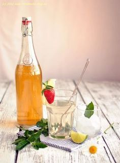 Mint syrup (recipe in Czech)