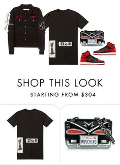 """""""After Dark."""" by queenleestyles ❤ liked on Polyvore featuring DRKSHDW, NIKE and Moschino"""