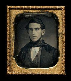 1/6 Daguerreotype Photo of a Handsome Man SJ MORRIS  by diabolus
