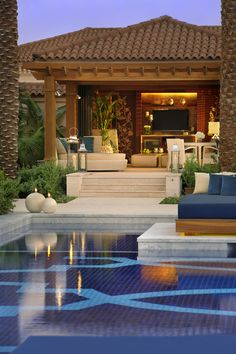beautiful pool and patio