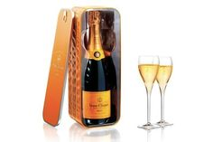 Homage to Veuve's history. They always come up with brilliant packaging ideas.
