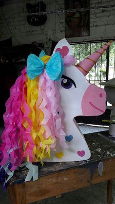 Mermaid Theme Birthday, Cowgirl Birthday, Unicorn Birthday Parties, Birthday Party Themes, 3d Paper Crafts, Diy And Crafts, Crafts For Kids, Unicorn Pinata, Unicorn Party