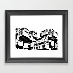 Habitat 67, model community and housing complex in Montreal, Canada, by Moshe Safdie. Built as a pavilion for Expo 67, the World's Fair held from April to October 1967. Architecture student? Love modern architecture? We've got a range of fantastic international style modernism products here https://society6.com/archudesign