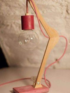Wooden Lamp, Wooden Diy, Make A Lamp, Diy Casa, Creation Deco, Unique Lamps, Modern Lamps, Diy Room Decor, Home Decor