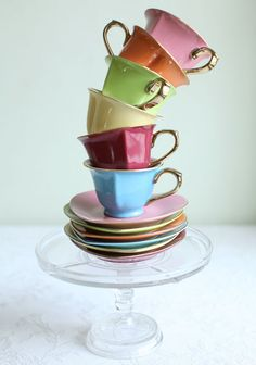 Tea Lover Cup & Saucer Set @shopruche.com #teaparty #colorful #teaset #adorable #wishlist