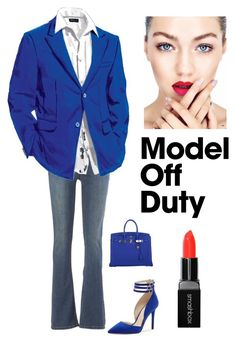 """""""Off Duty models"""" by kotnourka ❤ liked on Polyvore featuring Free People, Jessica Simpson, Hermès and Smashbox"""