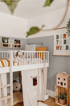 Modern Tiny House, Kids Room Design, Woodland Nursery, Baby Decor, Interiores Design, Boy Room, Decoration, Girls Bedroom, 1