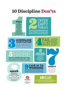 here are 10 great discipline don'ts courtesy of parent's magazine