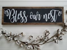 Blessed Sign - Bless Our Nest - Bless Our Home Sign - Farmhouse Style - Farmhouse Sign - Wood Sign - Wooden Sign - Rustic Sign - Entryway by packratshandmade on Etsy