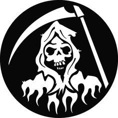 DEATH WITH SCYTHE FREE VECTOR