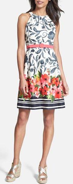 cute #floral midi dress http://rstyle.me/n/jvrw9r9te