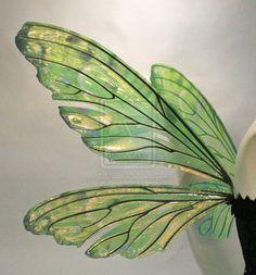 Teasel Painted Wings Absinthe3 by FaeryAzarelle.deviantart.com on @deviantART