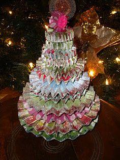 paper rosette Christmas tree
