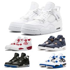 0fbe83a7abe Basketball Shoes 4 4s Men Raptors Pure Money Bred Royalty Black Cat White  Cement Fire Toro Red Mens Athletic Sport Sneaker Size 41-47