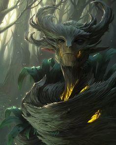 Engkanto é uma criatura mitológica das Filipinas, um espírito da floresta que tem a capacidade de assumir uma forma humanoide. Os Engkantos são famosos por seus feitos maléficos e por sua grande influência na sorte. Muitos relacionam depressão, loucura e até mesmo desaparecimentos, a esta criatura que atrai viajantes para dentro da floresta, mas é possível evita-los usando amuletos para afastar espíritos malignos! Arte por Brian Valeza