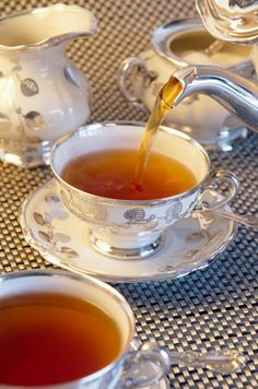 Pouring tea just takes all the crap away.