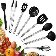 Best Cooking Utensils, Cooking Tools, Kitchen Utensil Set, Christmas Storage, Hand Shapes, Cookware, Stainless Steel, Tableware, Easy Storage