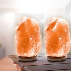 2 Pack Natural Crystal Himalayan Salt Lamp Himalayan Glow Hand Carved Natural... | Home & Garden, Lamps, Lighting & Ceiling Fans, Lamps | eBay!