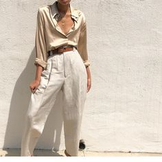 Linen Clothes - Casual Summer Outfits for Work Look Fashion, Fashion Outfits, Womens Fashion, Fashion Trends, Fashion Hacks, French Fashion, Fashion Ideas, Fashion Design, Fashion Tips