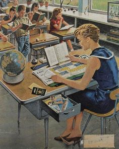 Vacation Plans. The Saturday Evening Post. April 9, 1960, cover art. Ben Kimberly Prins (1902-1980).