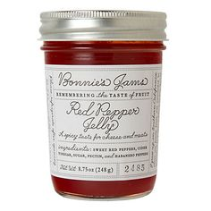 love the label  Bonnie's Red Pepper Jelly in Sale SHOP House+Home at Terrain