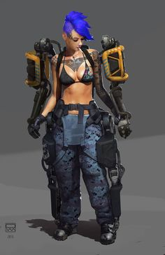 ArtStation - girl in exo, by Mikhail RakhmatullinMore Characters here.