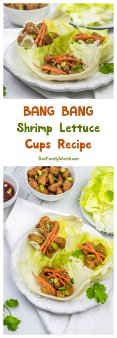 This easy & delicious Bang-Bang Shrimp lettuce cups party recipe is exactly what your bash needs! Check it out!