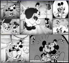 Steamboat Mickey 1928 Cartoon